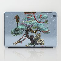 christmas tree iPad Cases featuring Christmas Tree by Anna Shell