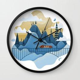 Mountain Race Wall Clock