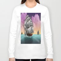 ships Long Sleeve T-shirts featuring Rigged Ships by Yoly B. / Faythsrequiem