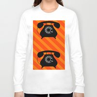 telephone Long Sleeve T-shirts featuring telephone by vitamin