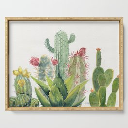 Cactus Watercolor Serving Tray
