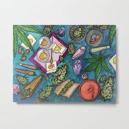 Cannabis Altar II Metal Print