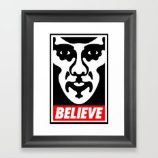 Believe - Sherlock Framed Art Print