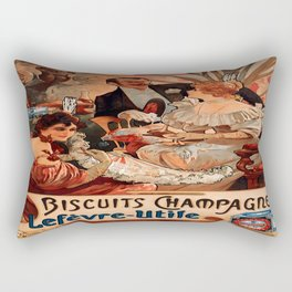 Vintage poster - Biscuits Champagne Rectangular Pillow