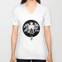 the neighbourhood V-neck T-shirts featuring The NEIGHBOURHOOD: Afraid by PINXEWUEY