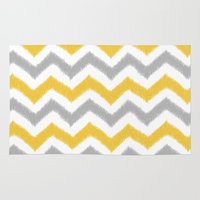 ikat Area & Throw Rugs featuring Chevron IKAT by Patty Sloniger