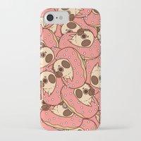 doughnut iPhone & iPod Cases featuring Puglie Doughnut by Puglie Pug