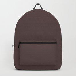 Solid earthy brown. Backpack