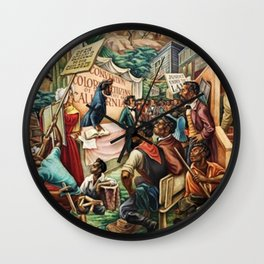 Classical African American Landscape The Negro in California History by Charles Alston Wall Clock