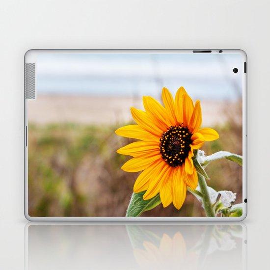 Sunflower near ocean Laptop & iPad Skin