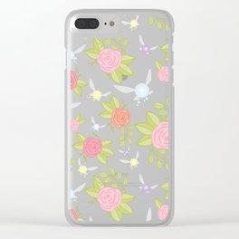 Garden of Fairies Pattern Clear iPhone Case