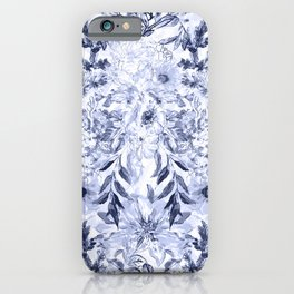 Watercolor grey floral hand paint iPhone Case