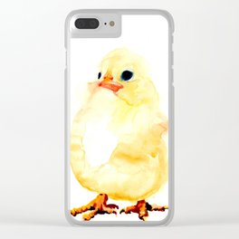 FUNNY CHICKEN WATERCOLOR Clear iPhone Case