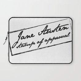 Jane Austen - Stamp of approval Laptop Sleeve