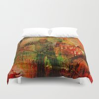 venice Duvet Covers featuring Venice by Ganech joe