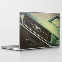 mustang Laptop & iPad Skins featuring Galaxy Mustang by Honey Malek