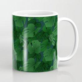 Monstera (Jungle) - Emerald x Teal Coffee Mug