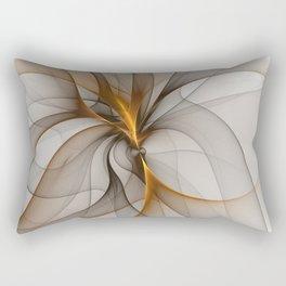 Elegant Chaos, Abstract Fractal Art Rectangular Pillow