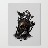 fall Canvas Prints featuring Legends Fall by nicebleed