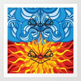 THE NORTH WIND & THE SUN Art Print