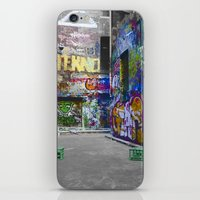 melbourne iPhone & iPod Skins featuring Melbourne Graffiti by Another Alex