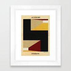 shape Le Corbusier Framed Art Print