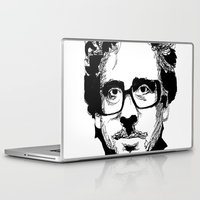 tim burton Laptop & iPad Skins featuring Tim Burton in colors by burro by BURRO