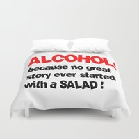 alcohol Duvet Covers featuring alcohol by Sava Miskovsky