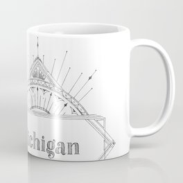 Art Deco Michigan Coffee Mug