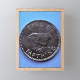English Farthing (quarter-penny) Framed Mini Art Print