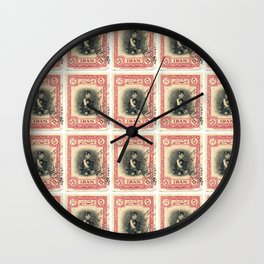 Old Iranian Stamp Wall Clock