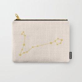 Pisces Zodiac Constellation Golden Carry-All Pouch