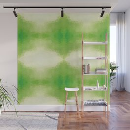 Kaleidoscopic design in green soft colors Wall Mural