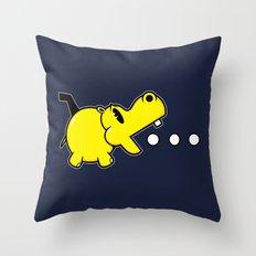 Waka Waka Hippos Throw Pillow
