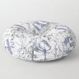 line work floral Floor Pillow