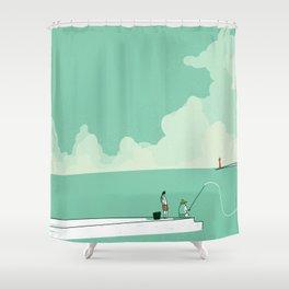 Sea fishing Shower Curtain
