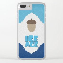 Ice Age 01 Clear iPhone Case