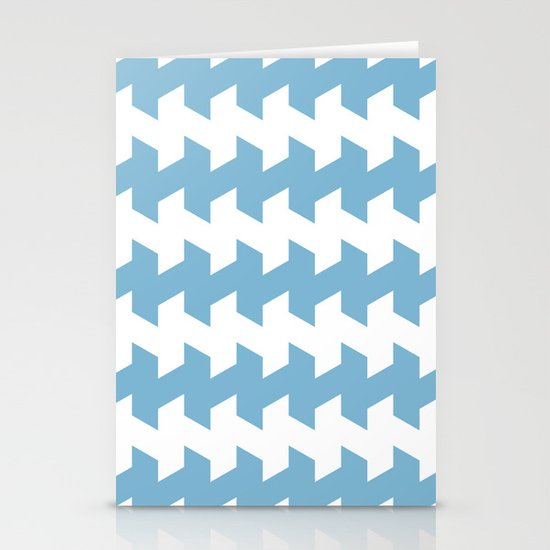 jaggered and staggered in dusk blue Stationery Cards