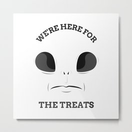 Alien Halloween Design Metal Print