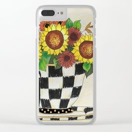 Sunflower Tea Clear iPhone Case