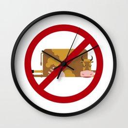 moo free Wall Clock