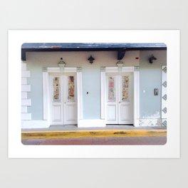 Puerto Rico Street Doors Art Print
