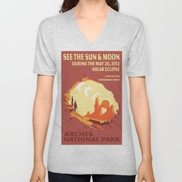 Vintage poster - Arches National Park Unisex V-Neck