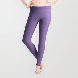 From The Crayon Box – Purple Mountains Majesty - Pastel Purple Solid Color Leggings