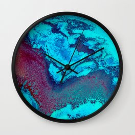 Abstract Blue Wall Clock