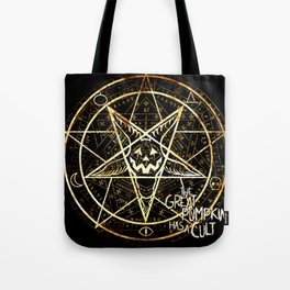 Cult of the Great Pumpkin: Pentagram Tote Bag