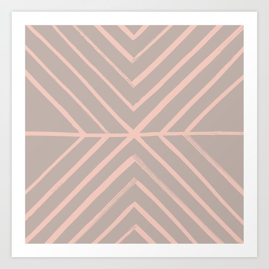 Intersect - in Apricot Art Print