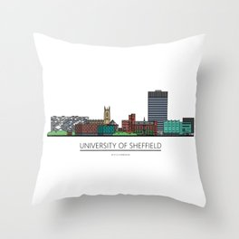 Sheffield Icons - University of Sheffield Throw Pillow
