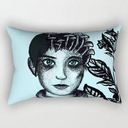 Blue Belladonna | Blue | Belladonna | Portrait | Art | Portrait Rectangular Pillow