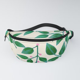 Rubber Plant Pattern Fanny Pack